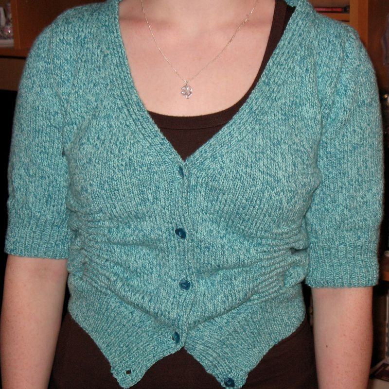 Ruched cardi front