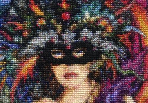 Mask of color hd closeup