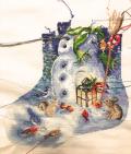 Snowman stocking WIP 12-31-16