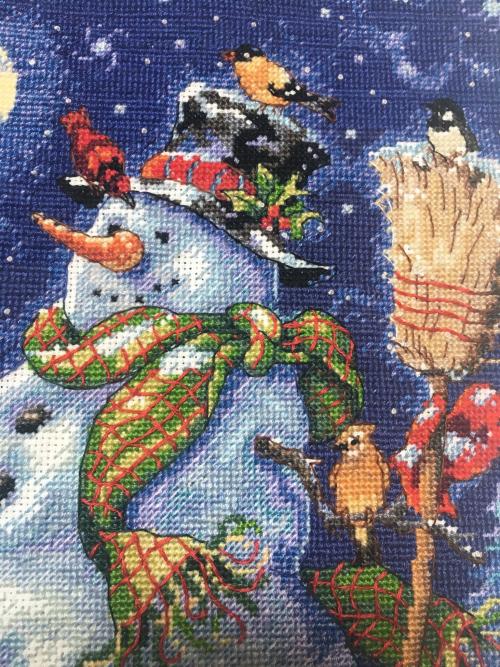 Snowman Stocking HD-detail 1
