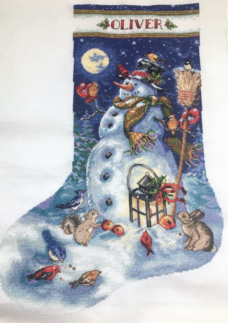 Snowman Stocking HD