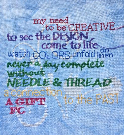 I am a stitcher WIP 8-25-16