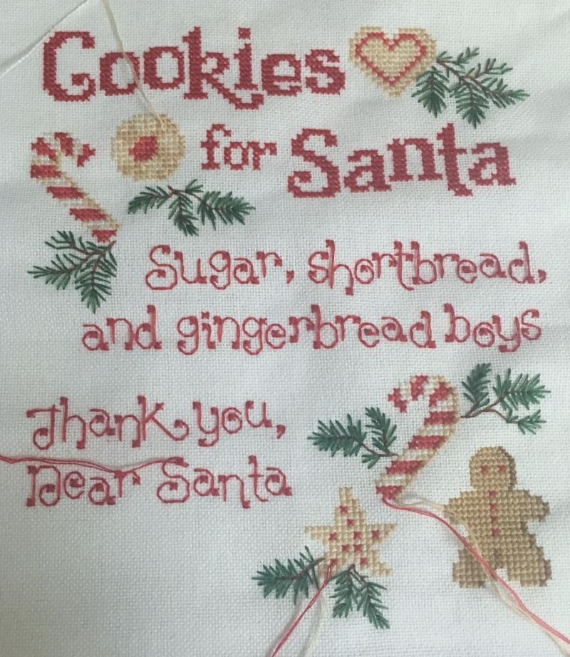 Cookies Santa wip 6-25-17