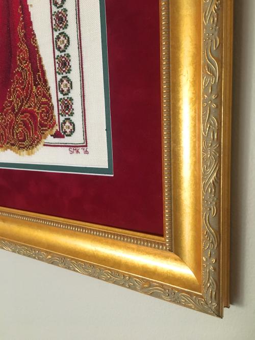 Celtic christmas FFO-frame detail