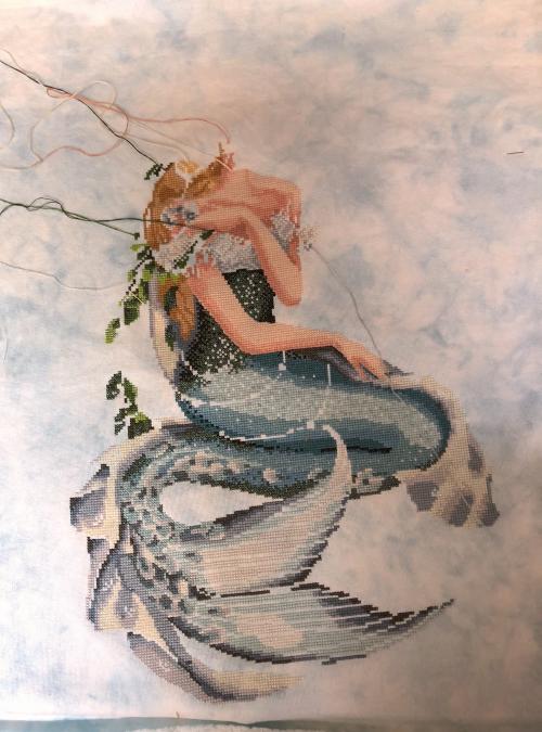 Enchanted Mermaid WIP 7-22-18