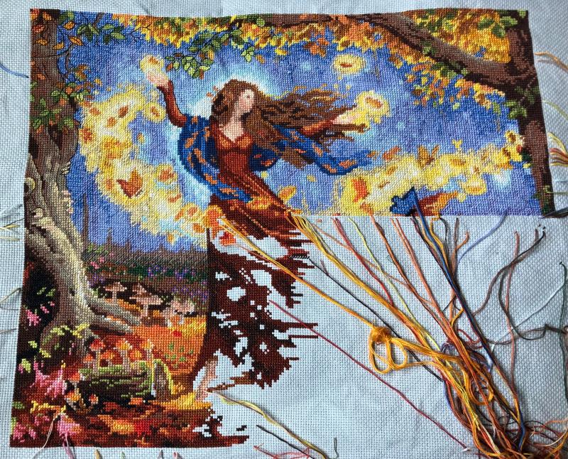 Fall Fairy WIP 6-30-18