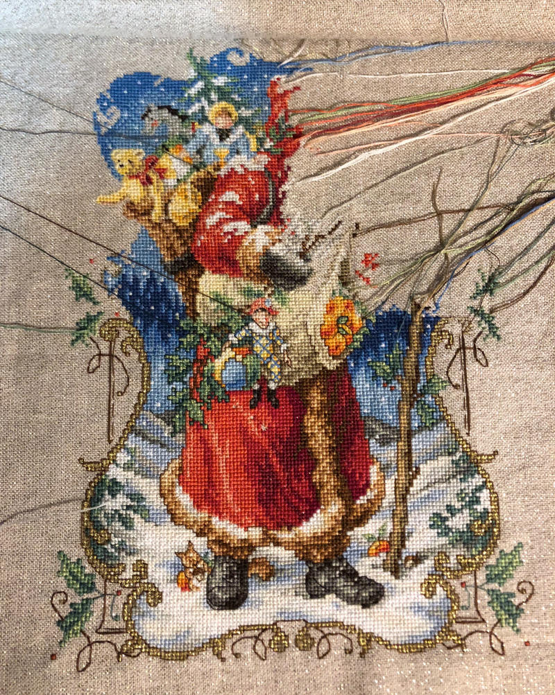 Charmed Santa WIP 7-17-18