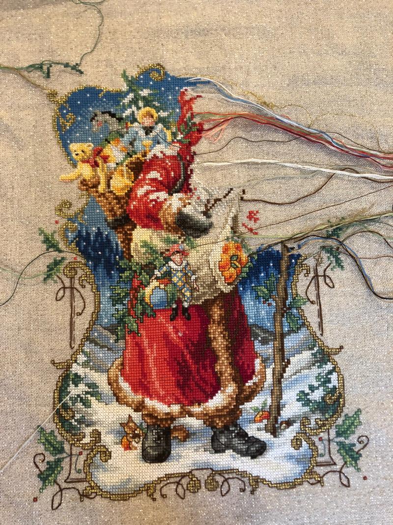 Charmed Santa WIP 10-28-18
