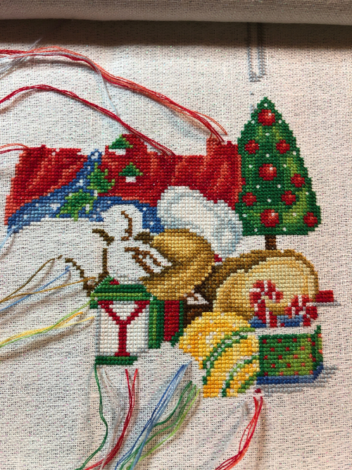 Christmas Teddy WIP 2-24-19