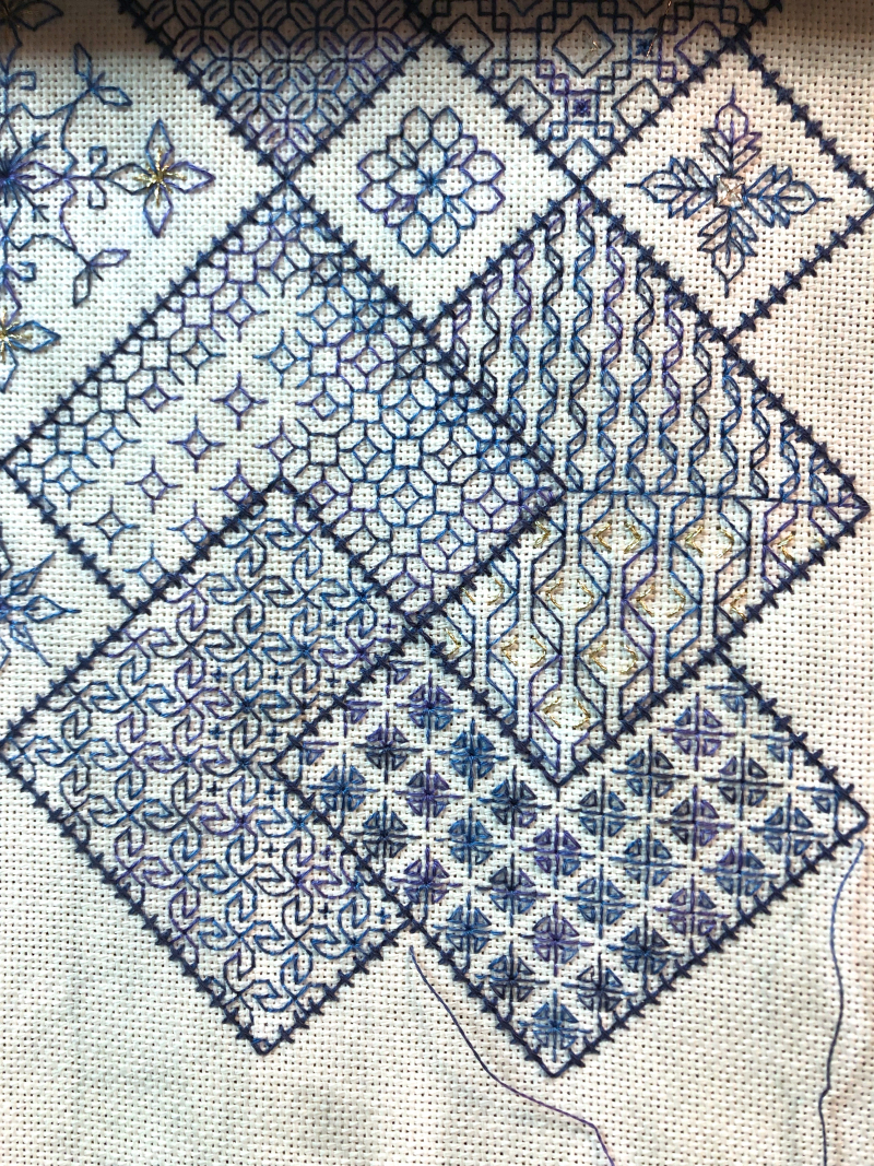 Save the Stitches WIP 10-20-19