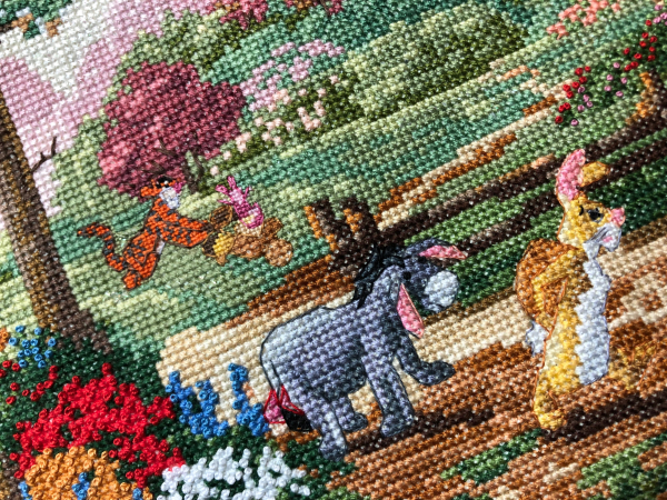 Disney Winnie the Pooh and the gang,Cross Stitch Pattern