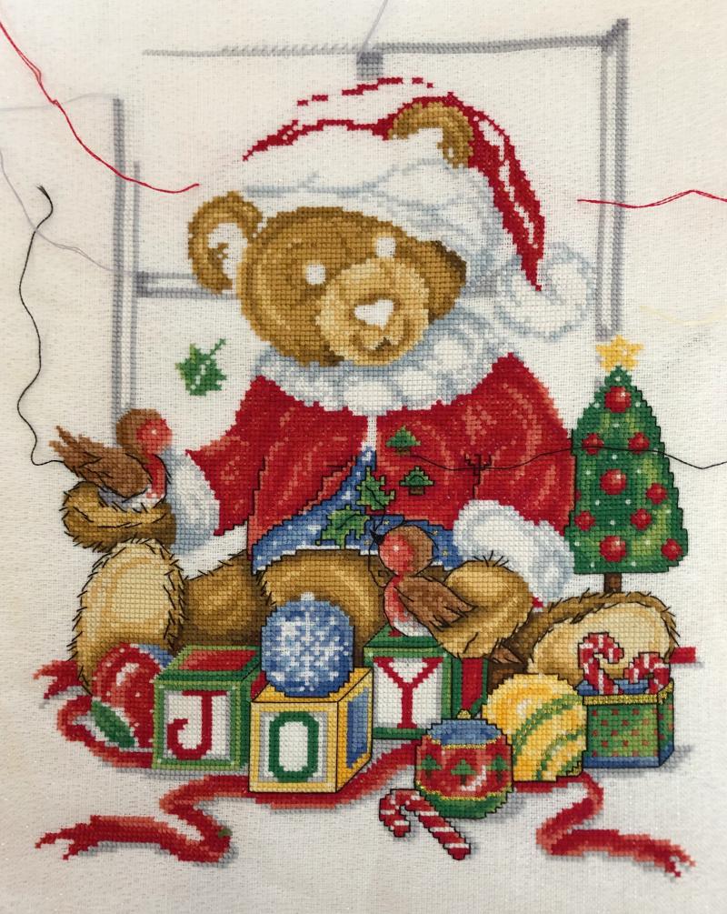 JE Xmas Teddy WIP 5-26-19