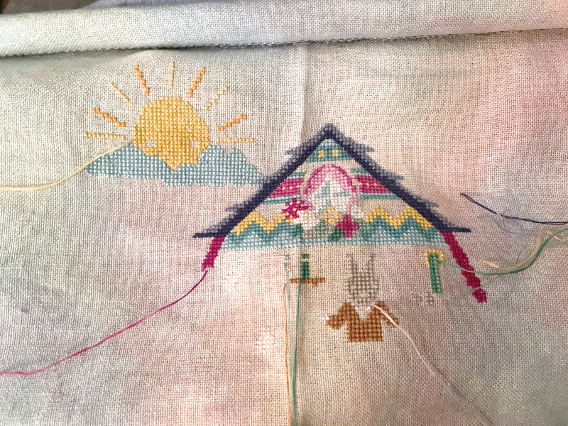 Easter Bunny House WIP 3-30-21