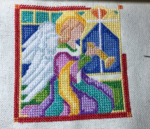 Stained Glass angel Wip 8-16-20