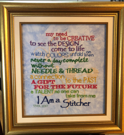 I Am a Stitcher Framing HD