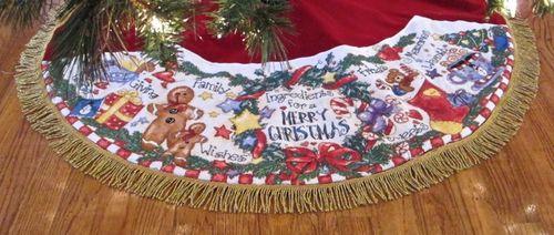 Christmas Ingredients Tree Skirt